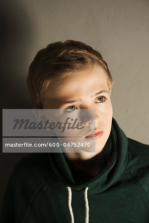 Head and Shoulders Portrait of Boy, Studio Shot Stock Photo - Premium Royalty-Free, Image code: 600-06752470