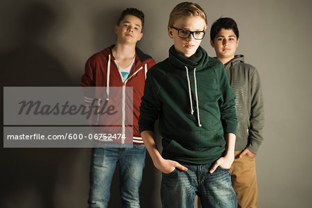 Portrait of Teenage Boys, Studio Shot Stock Photo - Premium Royalty-Free, Image code: 600-06752474