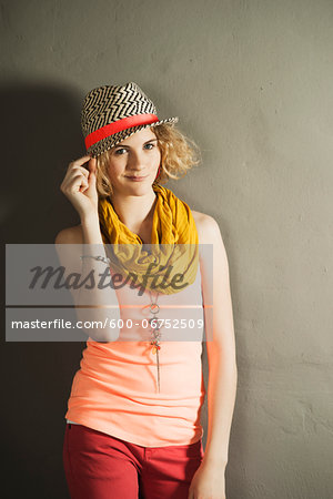 Portrait of Teenage Girl, Studio Shot Stock Photo - Premium Royalty-Free, Image code: 600-06752509