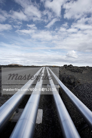 Geothermal Pipeline, Reykjanes, Iceland Stock Photo - Premium Royalty-Free, Image code: 600-06752535