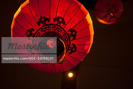 Red Chinese lanterns, Traditional Wedding Decor, Toronto, Ontario, Canada Stock Photo - Premium Royalty-Free, Image code: 600-06758137