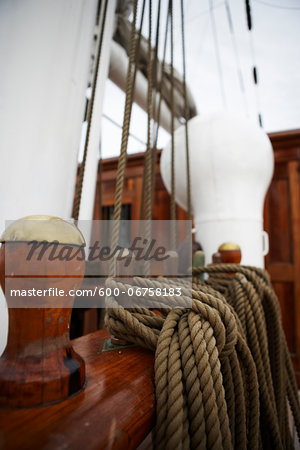 Close-up of Mooring Post of Sailboat Stock Photo - Premium Royalty-Free, Image code: 600-06758183