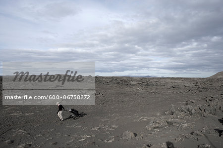 Man Playing Golf in Lava Field, Reykjanes, Iceland Stock Photo - Premium Royalty-Free, Image code: 600-06758272