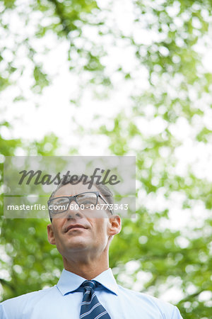 Portrait of Businessman Outdoors, Mannheim, Baden-Wurttemberg, Germany Stock Photo - Premium Royalty-Free, Image code: 600-06773343