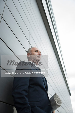 Portrait of Businessman Outdoors, Mannheim, Baden-Wurttemberg, Germany Stock Photo - Premium Royalty-Free, Image code: 600-06773375
