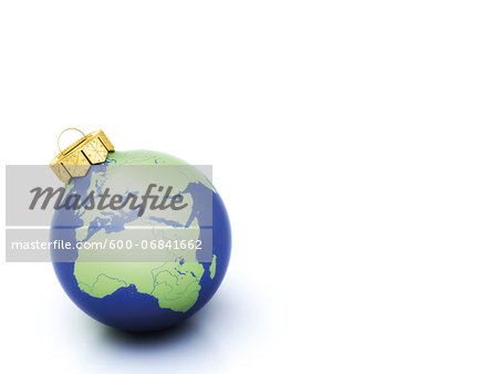 World Christmas ball on white background Stock Photo - Premium Royalty-Free, Image code: 600-06841662