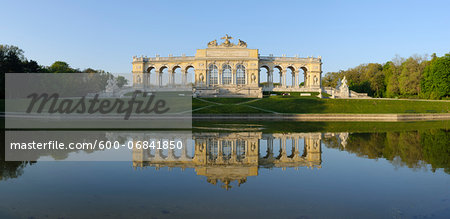 Gloriette reflected in Pond in Garden at Schonbrunn Palace, Vienna, Austria Stock Photo - Premium Royalty-Free, Image code: 600-06841850