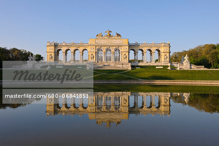 Gloriette reflected in Pond in Garden at Schonbrunn Palace, Vienna, Austria Stock Photo - Premium Royalty-Free, Image code: 600-06841851