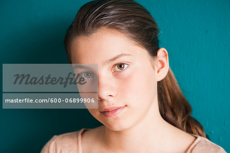 Close-up portrait of girl, Germany Stock Photo - Premium Royalty-Free, Image code: 600-06899906