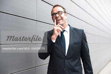 Portrait of Businessman Outdoors, Mannheim, Baden-Wurttemberg, Germany Stock Photo - Premium Royalty-Free, Image code: 600-06939773