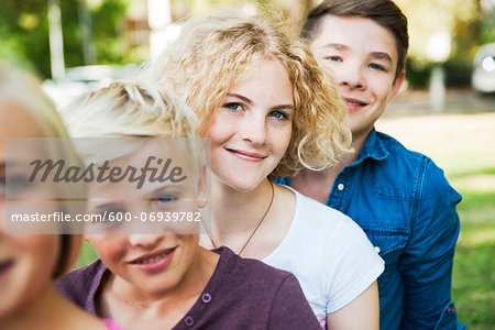 Portrait of Teenagers Outdoors, Mannheim, Baden-Wurttemberg, Germany Stock Photo - Premium Royalty-Free, Image code: 600-06939782