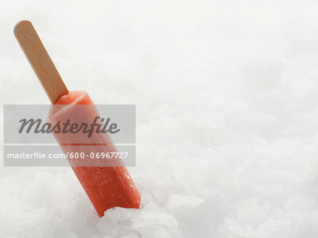 Popsicle in Crushed Ice Stock Photo - Premium Royalty-Free, Image code: 600-06967727