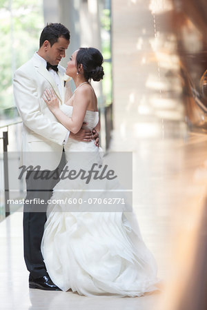 Portrait of Bride and Groom, Toronto, Ontario, Canada Stock Photo - Premium Royalty-Free, Image code: 600-07062771