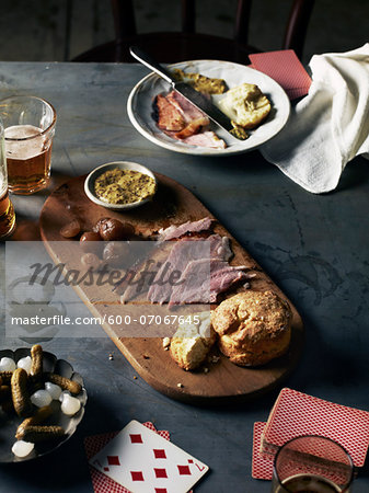 Playing Cards and Snacks, Studio Shot Stock Photo - Premium Royalty-Free, Image code: 600-07067645