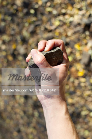 Hand Holding Rock, Steglitz, Berlin, Germany Stock Photo - Premium Royalty-Free, Image code: 600-07110642