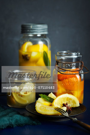 Preserved Citrus Fruits, Studio Shot Stock Photo - Premium Royalty-Free, Image code: 600-07110683