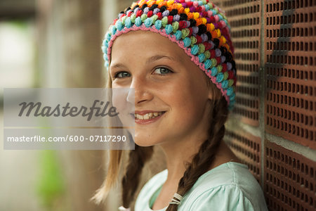 Close-up of Girl Outdoors, Mannheim, Baden-Wurttemberg, Germany Stock Photo - Premium Royalty-Free, Image code: 600-07117290