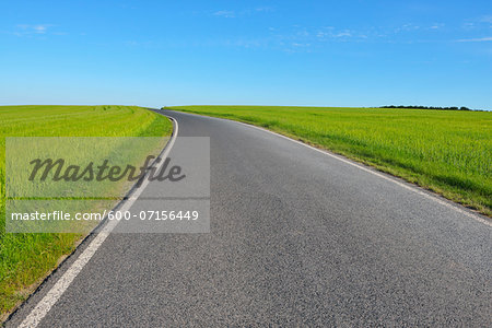 Country Road in Spring, Altertheim, Bavaria, Germany Stock Photo - Premium Royalty-Free, Image code: 600-07156449