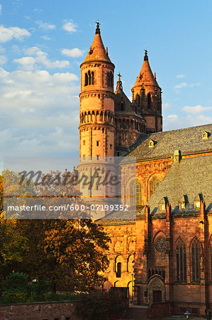 Worms Cathedral in Autumn, Worms, Rhineland-Palatinate, Germany Stock Photo - Premium Royalty-Free, Image code: 600-07199352