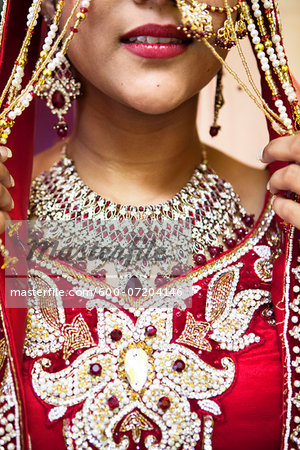 Close-up of Hindu Woman Getting Ready for Wedding, Toronto, Ontario, Canada Stock Photo - Premium Royalty-Free, Image code: 600-07204146