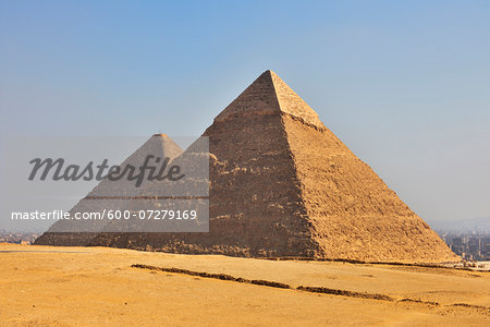 Pyramids of Giza, Giza, Cairo, Egypt, Africa Stock Photo - Premium Royalty-Free, Image code: 600-07279169