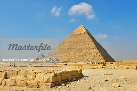 Pyramids of Giza, Giza, Cairo, Egypt, Africa Stock Photo - Premium Royalty-Free, Image code: 600-07279175