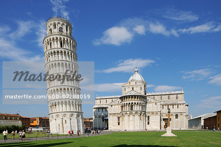 Leaning Tower of Pisa and Duomo de Pisa, Piazza dei Miracoli, Pisa, Tuscany, Italy Stock Photo - Premium Royalty-Free, Image code: 600-07288059