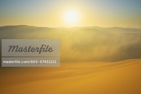 Golden Glow on Sand Dunes with Morning Mist, Matruh, Great Sand Sea, Libyan Desert, Sahara Desert, Egypt, North Africa, Africa Stock Photo - Premium Royalty-Free, Image code: 600-07431211