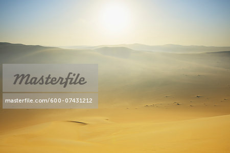 Sun over Sand Dunes with Morning Mist, Matruh, Great Sand Sea, Libyan Desert, Sahara Desert, Egypt, North Africa, Africa Stock Photo - Premium Royalty-Free, Image code: 600-07431212