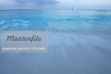 Surf, Blurred Motion, Grand Anse, La Digue, Seychelles Stock Photo - Premium Royalty-Free, Image code: 600-07453843