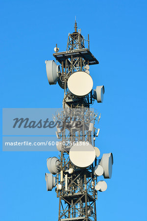 Cell Tower, Odenwald, Hesse, Germany Stock Photo - Premium Royalty-Free, Image code: 600-07561369