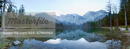 Landscape with Lake and Mountains in Autumn, Langbathsee, Austria Stock Photo - Premium Royalty-Free, Image code: 600-07944960