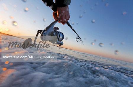Fishing along Coast of Rhode Island, USA