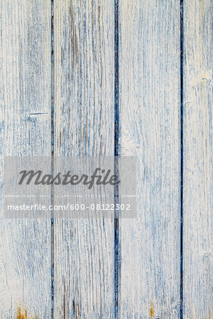 Close-up of Blue and White Painted Wooden Wall, Biscarrosse, Aquitaine, France Stock Photo - Premium Royalty-Free, Image code: 600-08122302