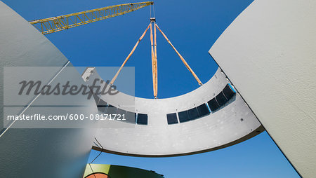 Construction of a wind turbine, Germany Stock Photo - Premium Royalty-Free, Image code: 600-08171721