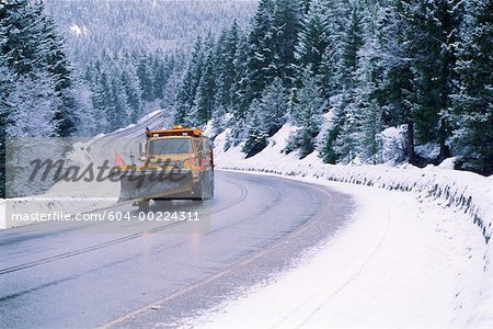 Snowplow Stock Photo - Premium Royalty-Free, Image code: 604-00224311