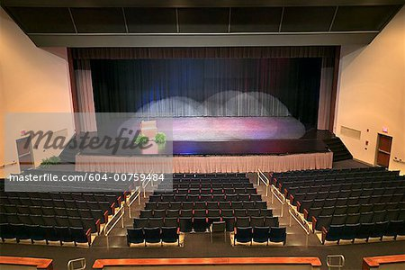Rows of seats at an auditorium Stock Photo - Premium Royalty-Free, Image code: 604-00759484