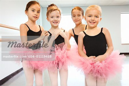 Portrait of girls in ballet class Stock Photo - Premium Royalty-Free, Image code: 604-01119458