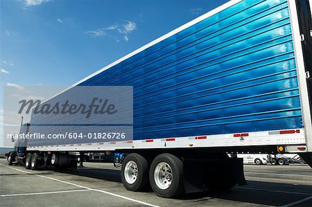 Semi-truck Stock Photo - Premium Royalty-Free, Image code: 604-01826726