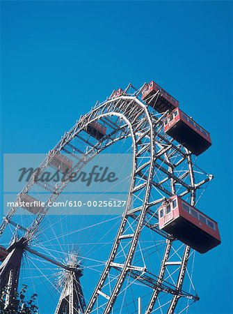 Austria, Vienna, The big wheel at Prater amusement park Stock Photo - Premium Royalty-Free, Image code: 610-00256127