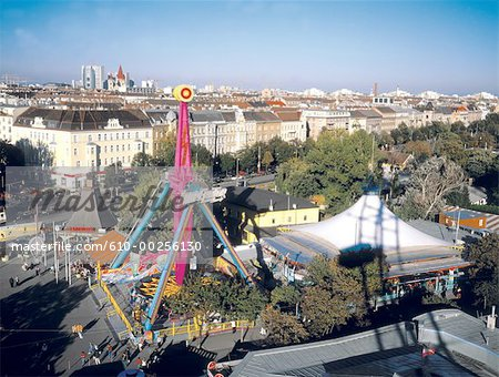 Austria, Vienna, View on the Prater amusement park Stock Photo - Premium Royalty-Free, Image code: 610-00256130