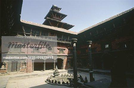 Nepal, Patan, Royal Palace, Sundari Chowk, interior yard