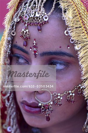 India, Punjab, Tar Taran, young sikh bride. Stock Photo - Premium Royalty-Free, Image code: 610-03503434