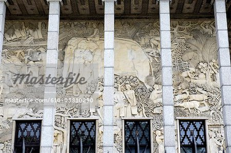 France, Paris, palais de la porte dorée, low relief Stock Photo - Premium Royalty-Free, Image code: 610-03810290