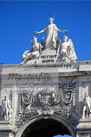 Portugal, Lisbon, arch of triumph