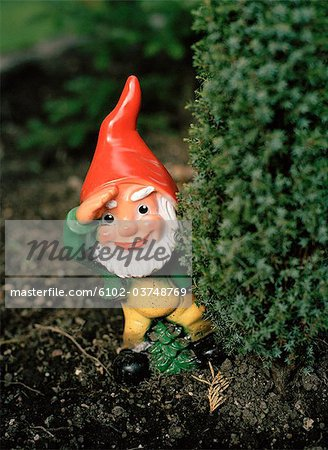 A garden gnome, close-up. Stock Photo - Premium Royalty-Free, Image code: 6102-03748769
