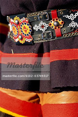 Traditional Lappish clothing, close-up. Stock Photo - Premium Royalty-Free, Image code: 6102-03749317