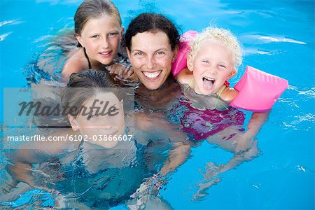 Scandinavian mother with her daughters, Greece. Stock Photo - Premium Royalty-Free, Image code: 6102-03866607