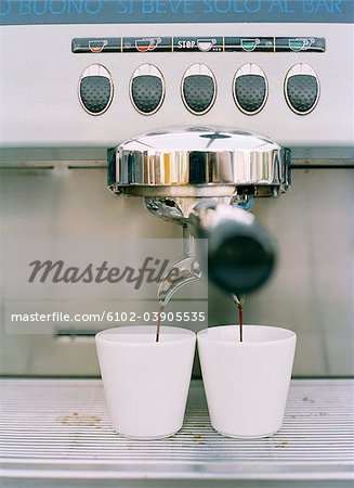 An espresso machine, Sweden. Stock Photo - Premium Royalty-Free, Image code: 6102-03905535