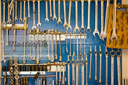 Collection of spanners Stock Photo - Premium Royalty-Free, Image code: 6102-04929625